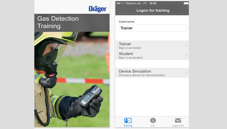 New gas detection training app from Dräger - ESI